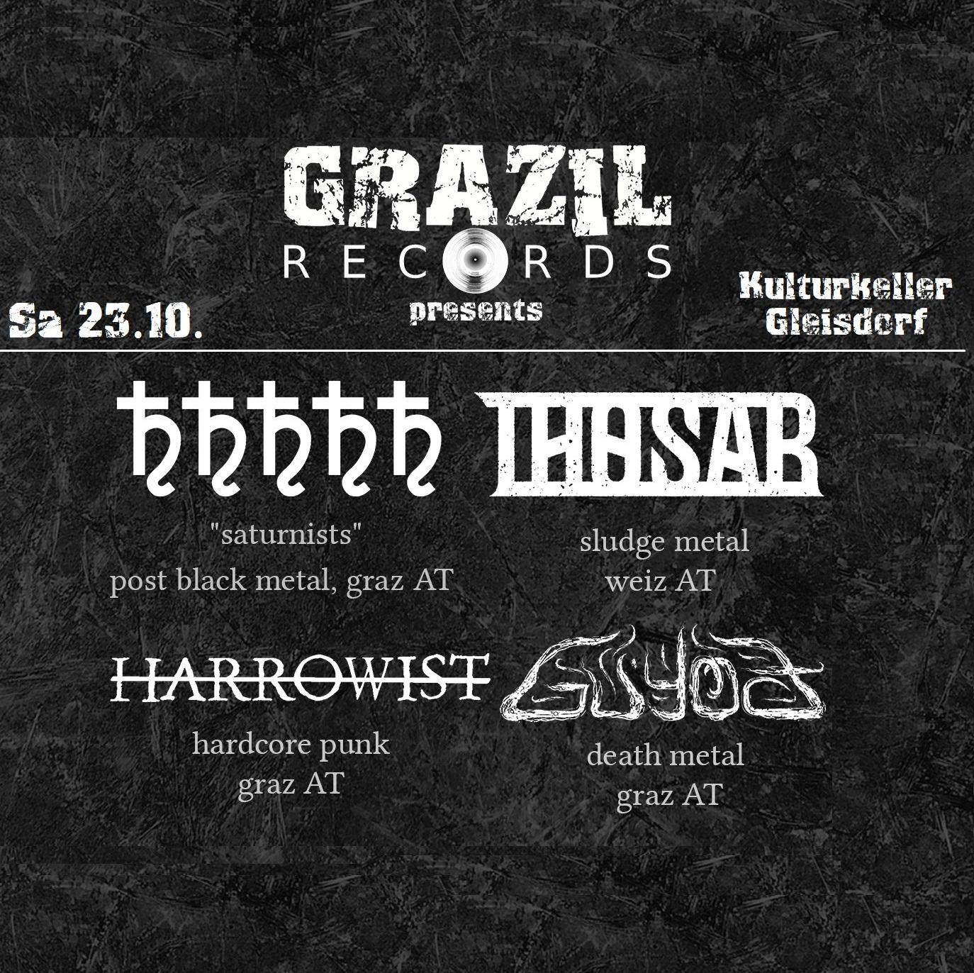 grazil Records Live Harrowist Saturnists Guyod Thosar